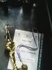 מדליה וגביע של דני באליפות ירושלים 2014