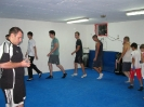 Warm up before the boxing training